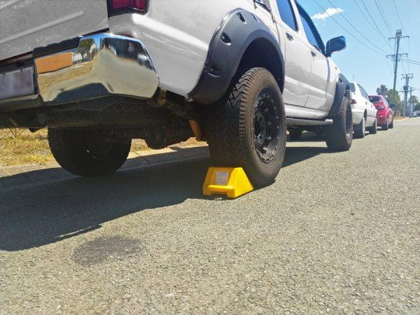 Wheel Chock under rear tyre