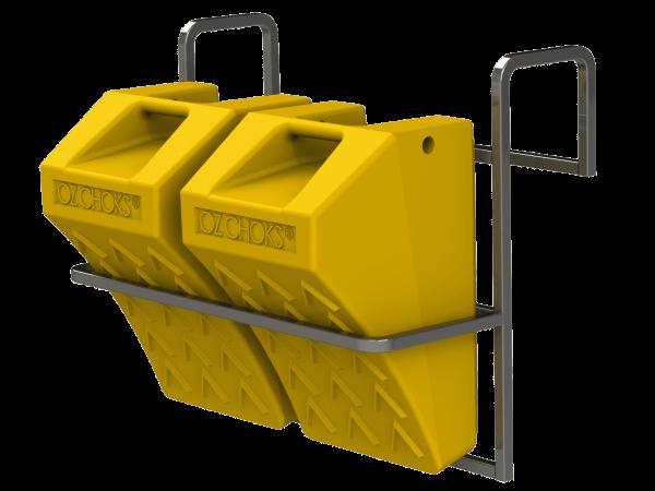 FSP Chock Storage Rack (Twin) - OZCHSR2)