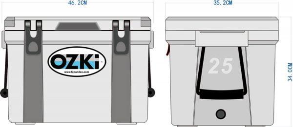Ozki-BH25-Cooler-Box-Dimenssion