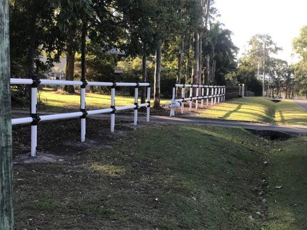 PVC farm fencing -post and Rail