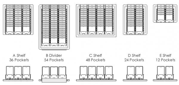 phone cubby shelf configuration